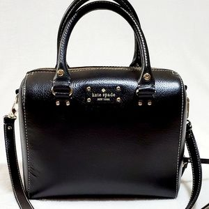 Kate Spade Leather Alessandro Wellesley Boston Bag